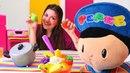 Çizgi film oyuncağı Pepee ile meyveli yoğurt yapıyoruz!