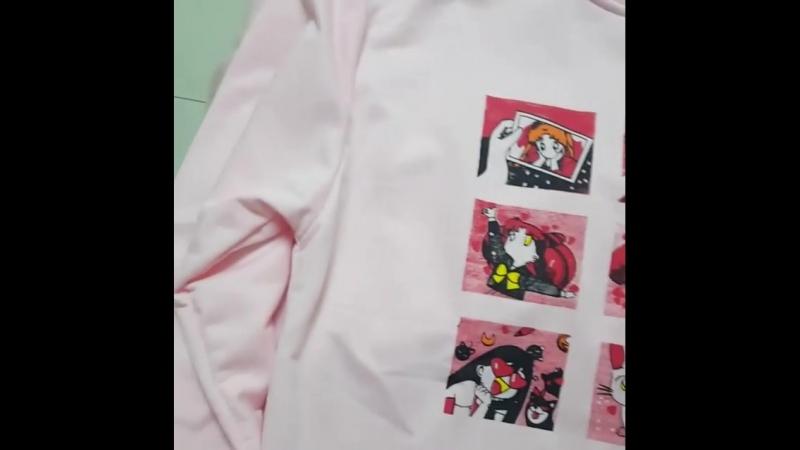 ФутболкаРубашка Kawaii Sailor Moon