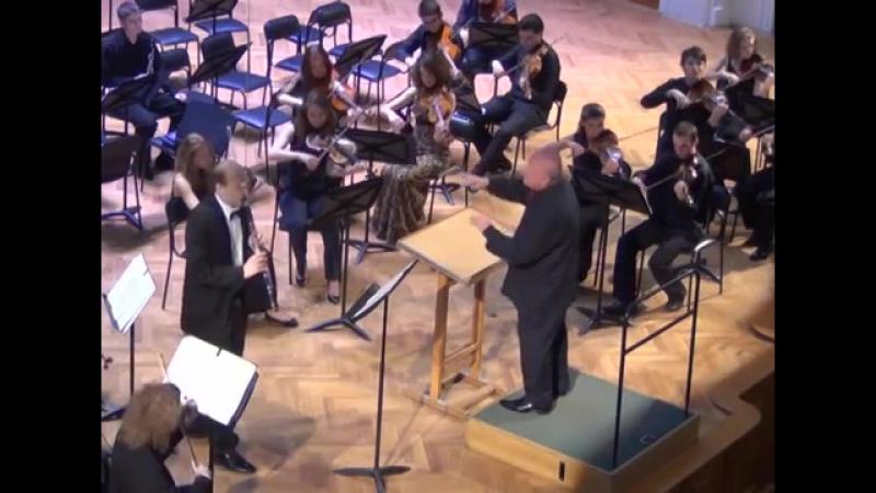 К.М.Вебер. Концерт для кларнета №2. Евгений Петров (кларнет). Дирижер - Рафаэль Багдасарян