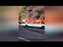 На проспекте Обуховской Обороны сгорел автобус