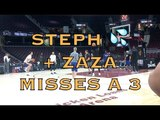 Steph Curry splashing, Zaza missing a 3 at practice at The Q in Cleveland, day before NBA Finals G3