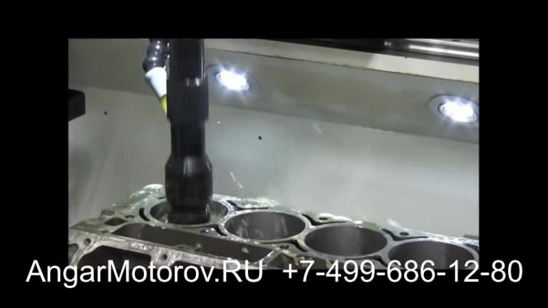 Ремонт Блока Цилиндров Двигателя Audi A4 1.8 TFSI Шлифовка Расточка Опрессовка Сварка Гильзовка