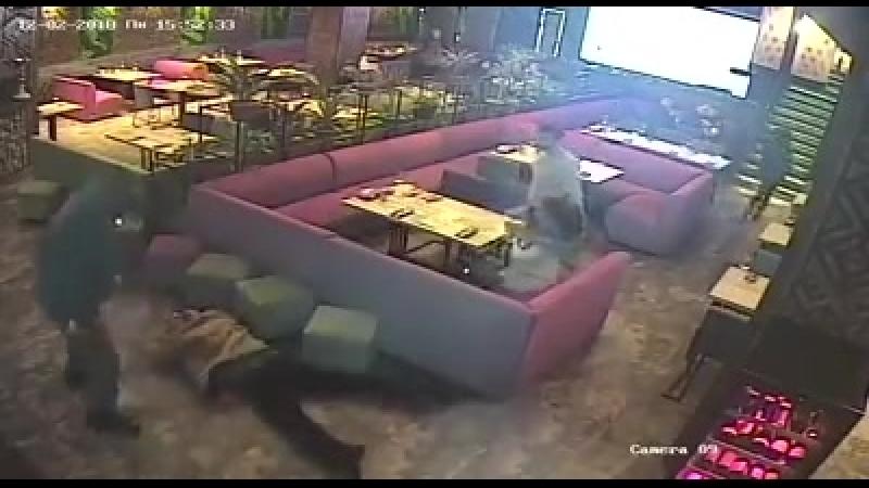 Задержание Саакашвили в ресторане Сулугуни Камера наблюдения
