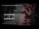 U17 5 Nations Tournament 2018 | Slovakia – Germany
