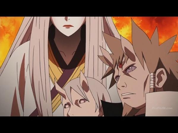 Хагоромо пробуждает Шаринган и Риннеган, Хамура против Кагуи Ооцуцуки