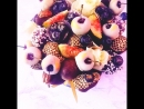 Шляпная коробочка с фруктф Шляпная коробочка с фруктами в шоколаде