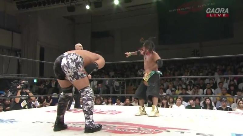 KAGETORA Yosuke Santa Maria U T vs Kzy Susumu Yokosuka brother YASSHI Dragon Gate Storm Gate 2018 Day 1