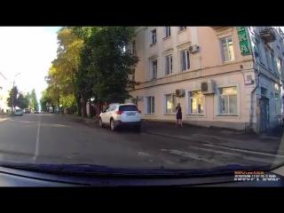 Наглый велосипедист