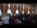 Танцы на пленарном заседании в мэрии Череповца 2017