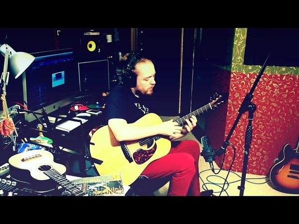 Илья Драгунов слэп на акустической гитаре