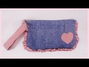 DIY Simple Easy Wristlet Pouch from Old Clothes