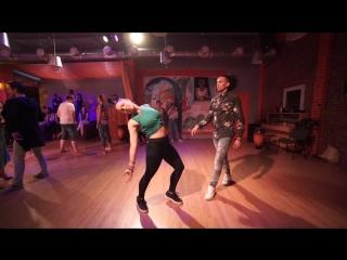 Yoanis Meneses and Olga Samoilova Salsa Dancing