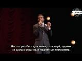 Aziz Ansari / Азиз Ансари: про выступление на благотворительном концерте (2013)