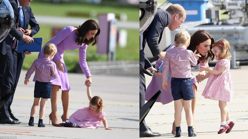 Princess Charlotte has a tantrum refuses to board plane Germany and Poland tour