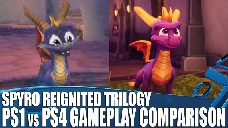 Spyro Reignited Trilogy - PS1/PS4 Graphics Comparison