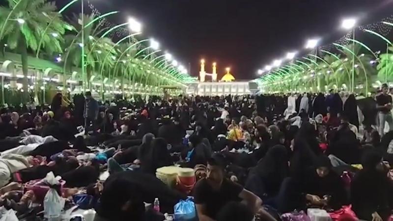 Qurban bayramı ilə əlaqədar Kərbəlada insan izdihamı yaşanır