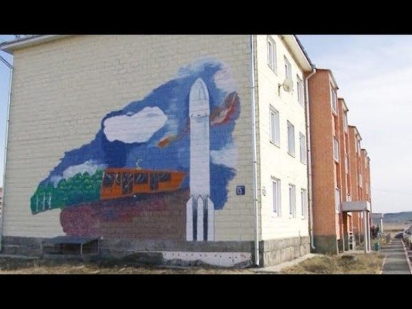 Усть-катавский художник расписал фасад дома