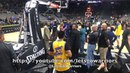 Postgame tunnel: Durant non-limp, Steph Curry, Livingston limp, Kerith Burke w/ Jarron Collins