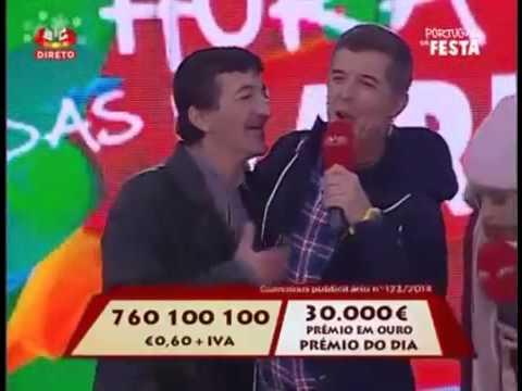 Bêbado invadiu o palco do Portugal em Festa da SIC e deixou João Baião sem palavras