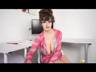 Kate Anne - Stress Relief (downblouse, braless, nipples, tits, solo)