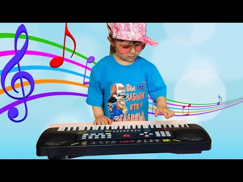Elina Julia Pretend Play with Musical Instrument Toys for Kids Sing Nursery Rhymes