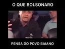 Bolsonaro faz piada chamando baiano de preguiçoso