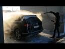 Помывка машины зимой в 20 на мойке самообслуживания ALLES Cенсорная панель 22 дюйма на морозе