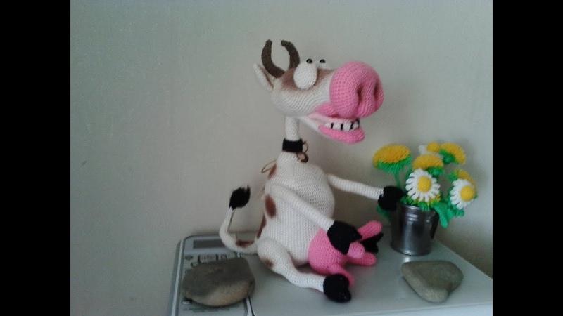 Веселая корова, ч.2. Cheerful cow, р.2. Amigurumi. Crochet. Амигуруми. Игрушки крючком.