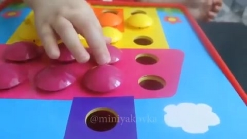 Мозаика для малышей Button Idea