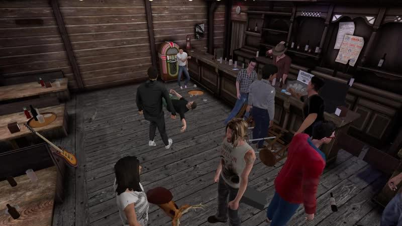 Мальчик идет в бой ! В Drunkn Bar Fight