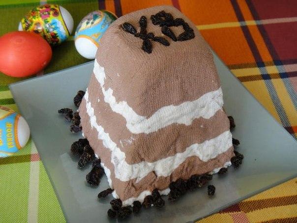 Полосатая пасха шоколадная