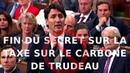 Fin du secret sur la taxe sur le carbone de Trudeau   Andrew Scheer
