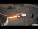 Отец добежал до горящего гоночного автомобиля и спас сына
