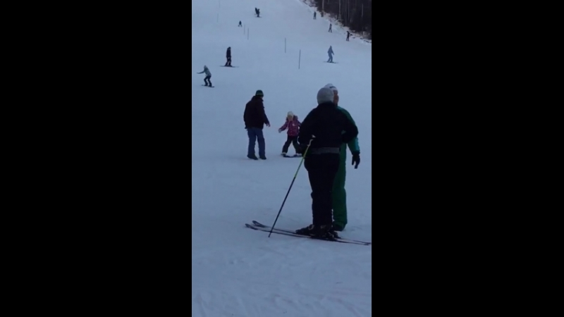 первый раз горных лыжах январь 2018