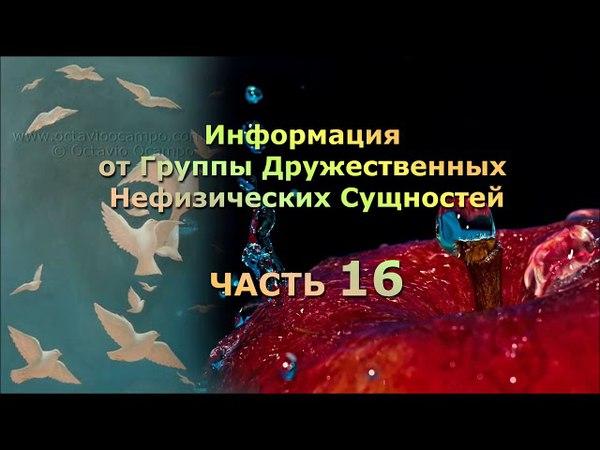 Наталья Кригер Информация от Группы Нефизических Дружественных Сущностей Часть 16