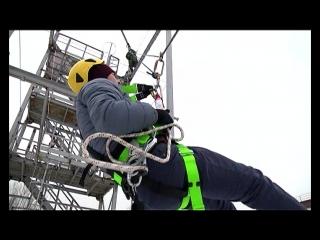 20.12.2017 Специалисты АО «МСУ-90» отработали порядок действий в экстренной ситуации при работах на высоте
