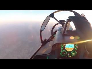 Su-30SM overflying a drone over Maarrat al-Numan