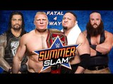 WWE Raw 15 April 2018 Roman Reigns vs Brock Lesnar vs Braun Strowman vs Samoe Joe For Universal