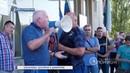 Забастовка шахтёров в Димитрове. 15.08.2018, Панорама
