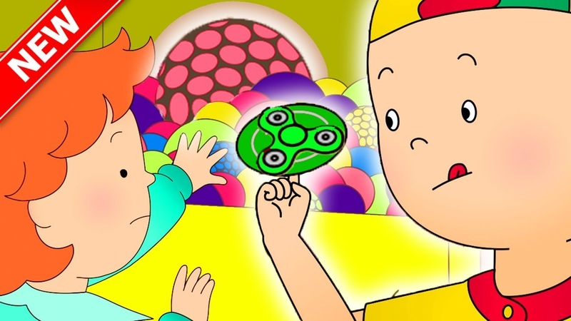 ★NEW★ Caillou plays with FIDGET SPINNER and SLIME | Funny Animated Caillou Cartoons for children
