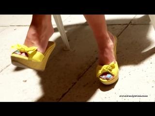 Candid Dangling High Heels Wedges