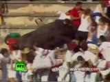 Spain Rampage_ Raging bull charges into crowd injuring 40 at bullfight