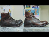 Разбираем и делаем заново Iron Ranger boots Red Wing 8111 Disassembling and remaking Red Wing 8111