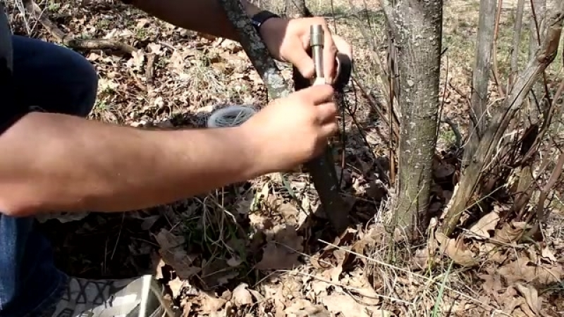 Сигнальная система на растяжке (сигнал охотника)