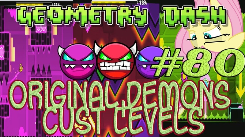 DEMONS INCOMING!! - Geometry Dash (GD) 80 - Check skills. Only demons! (offical and custom)
