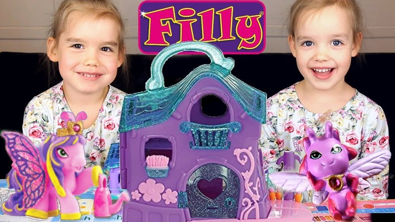Лошадки Filly Филли Бабочки Волшебный Дом Игровой набор для девочек Распаковка игрушки видео