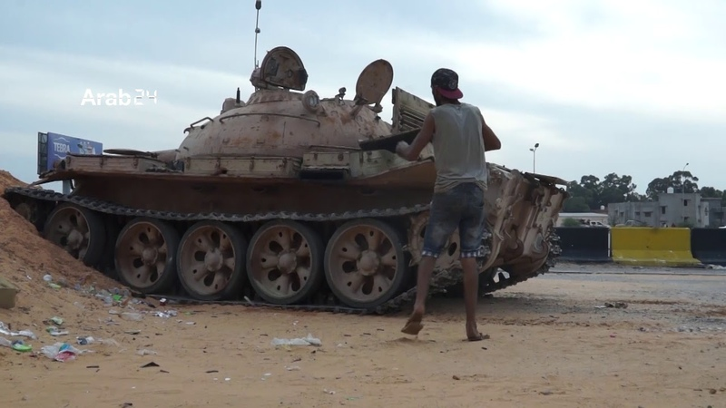 Libya  Renewed clashes south of Tripoli. (Exclusive scenes)