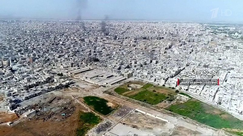 Два последних оплота боевиков вДамаске перешли под контроль правительственных войск Новости Первый канал