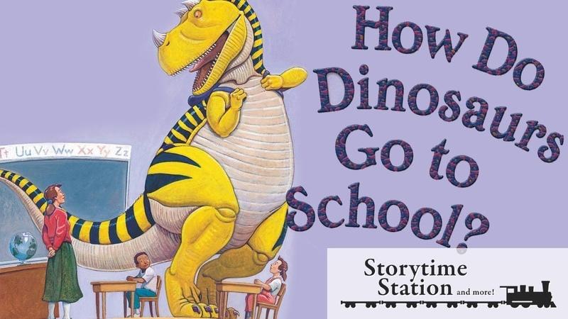 How Do Dinosaurs Go To School by Jane Yolen - Books for kids read aloud!