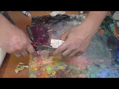 Секреты живописи. Что делать с краской на палитре после живописи.